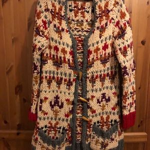 Anthropologie Sleeping On Snow cardigan L